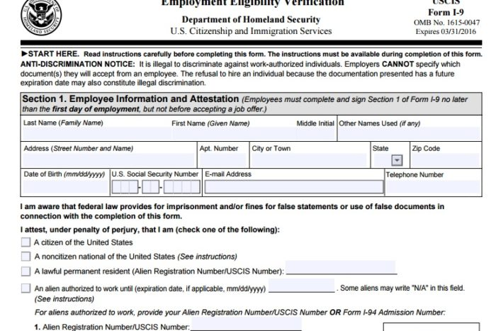 Cleveland CPA can help with form I-9 Zinner Co