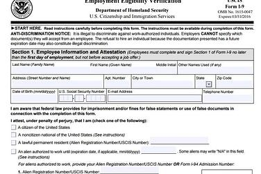 form i-9 help  Today is the Day the New I-11 Form Must be Put to Use by ...